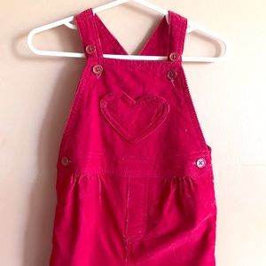 Adorable  overalls with matching shirt